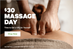 $30 Massage Day!