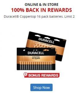 Office Depot: 100% Back in Rewards on Duracell Coppertop Batteries 16-Pack