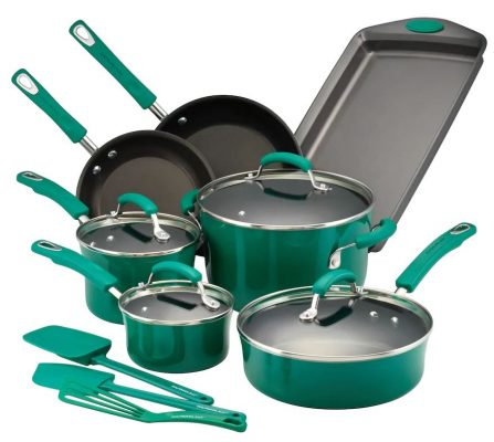 Rachael Ray 14 Piece Nonstick Cookware Set Only 63 99