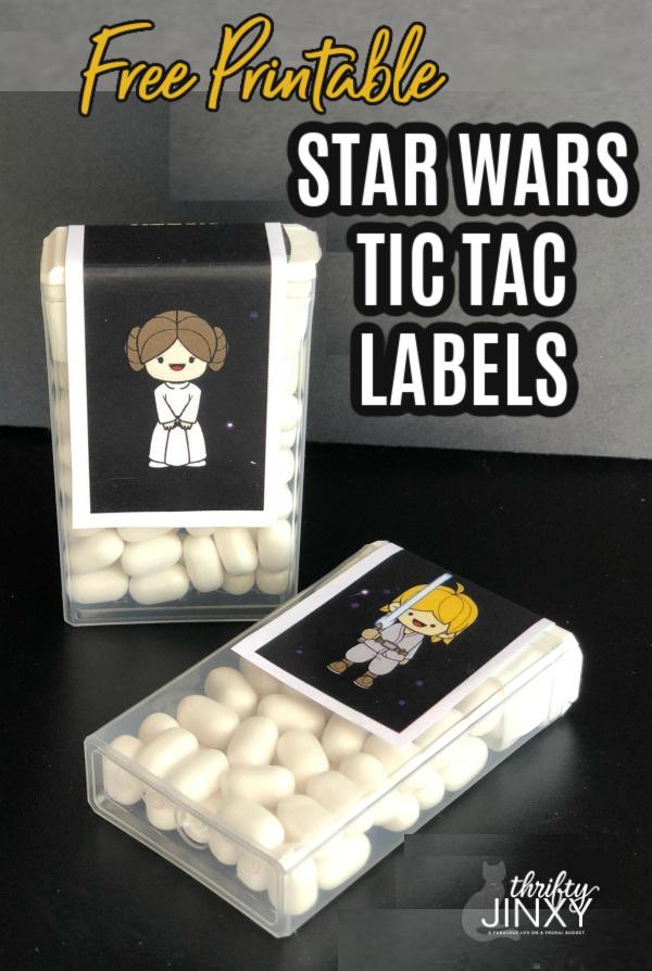 star wars tic tac labels