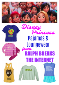 Disney Princess Pajamas and Loungewear from Ralph Breaks the Internet