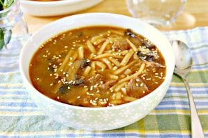Instant Pot Asian Beef Noodle Soup