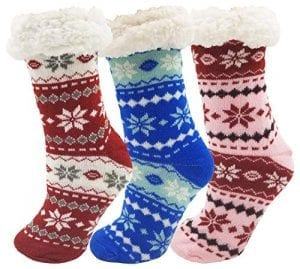 Fluffy Thermal Sherpa Socks – $9.98 for Two Pairs + FREE Shipping!