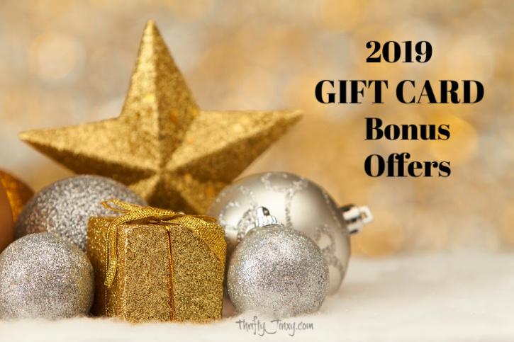 2019 Gift Card Bonus Offers