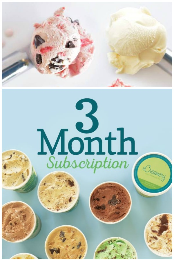 A food subscription box is one of the most fun holiday presents you can receive.See why eCreamery Flavor of the Month Subscriptions just may be at the top of the list of the best food subscription boxes! #GiftIdeas #IceCream #SubscriptionBox #FoodSubscription