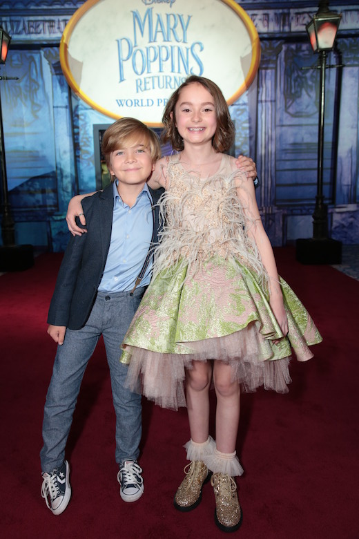Joel Dawson, Pixie Davies World Premiere of Disney's Mary Poppins Returns