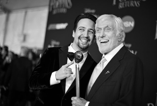 Lin-Manuel Miranda and Dick Van Dyke Mary Poppins Returns Premiere