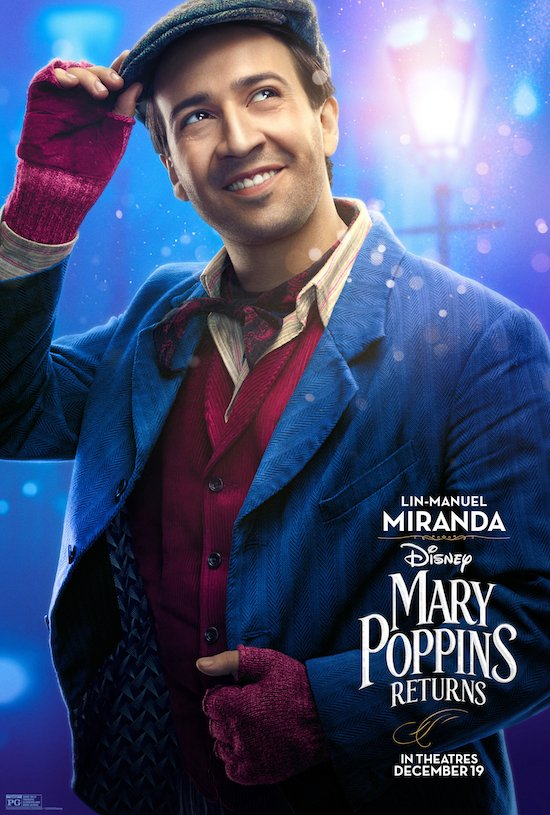 Mary Poppins Returns Lin-Manuel Miranda Movie Poster