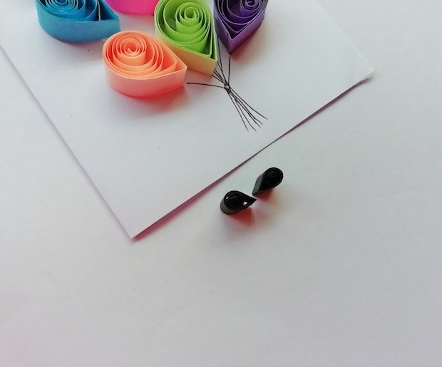 Balloons Paper Quilling Craft