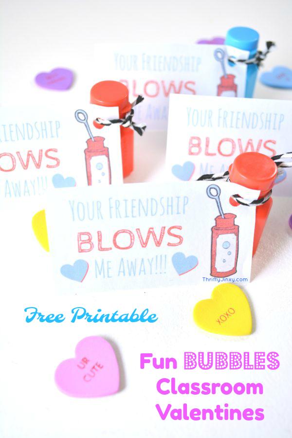 Bubbles Classroom Valentine Cards
