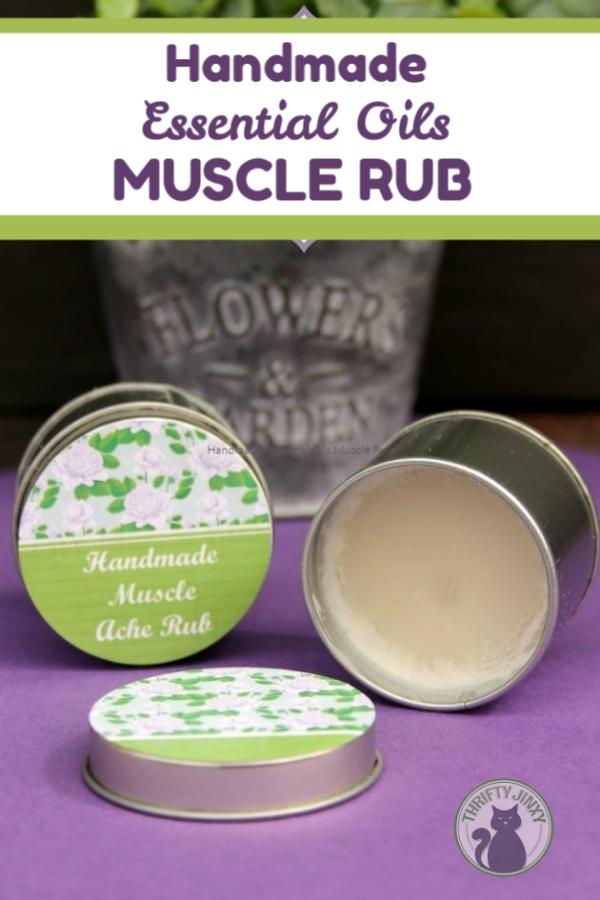 Handmade Essential Oils Muscle Rub