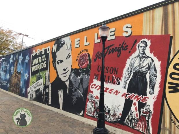 Orson Welles Mural Woodstock IL