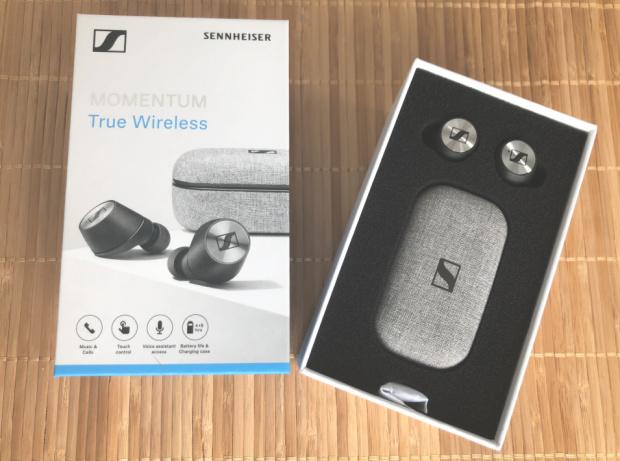 Sennheiser MOMENTUM True Wireless Earbud Headphones Box