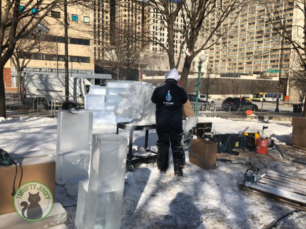 St Paul Winter Carnival Ice Sculpting