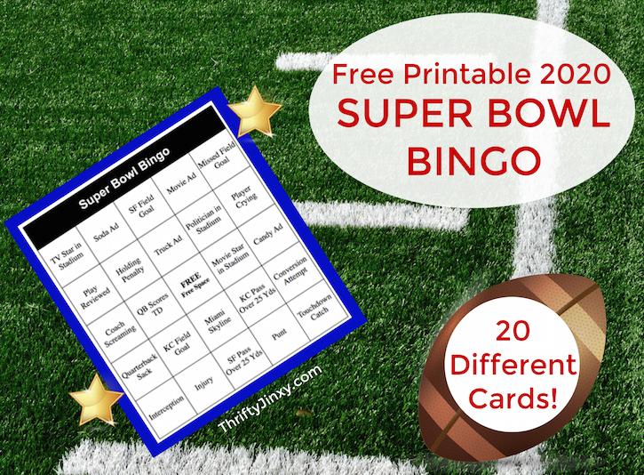 Super Bowl Bingo Printable
