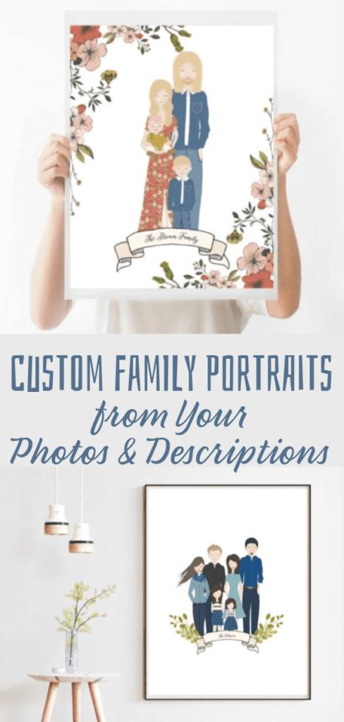 Custom Family Portraits from Your Photos & Descriptions