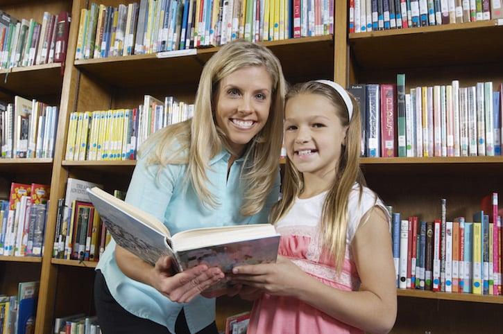 Library Teacher Child