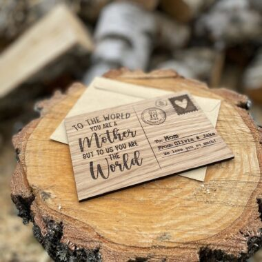 Personalized Mother's Day Wooden Postcard