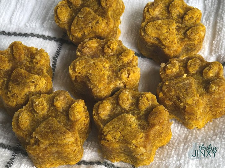 Peanut Butter Pumpkin Oats Dog Treats