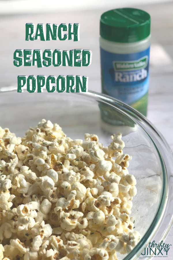 Add something special to your movie night with this delicious, easy-to-make Ranch Seasoned Popcorn! #popcorn #snacks