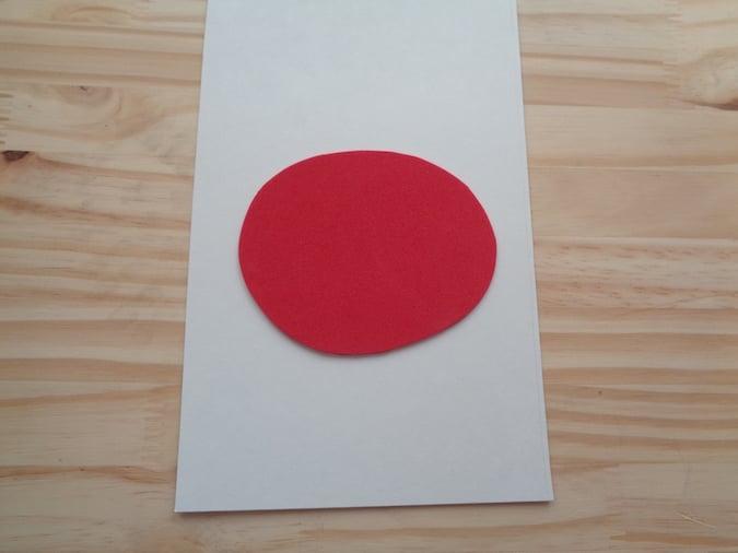 Red Craft Foam Circle