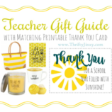 "Teacher ""Sunshine"" Gift Guide + Free Printable Teacher Thank You Card"