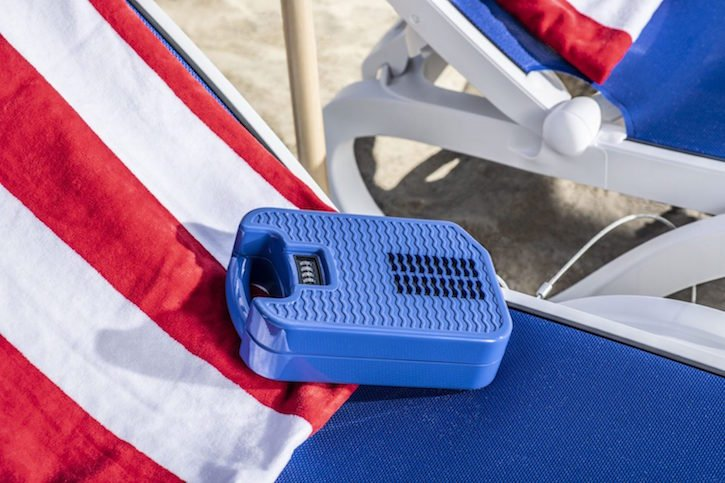 beachsafe portable safe at beach