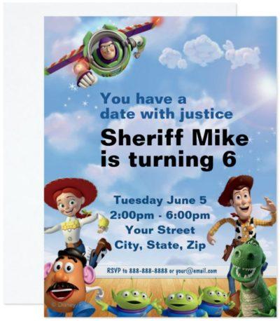 Toy Story Birthday Party Invitations