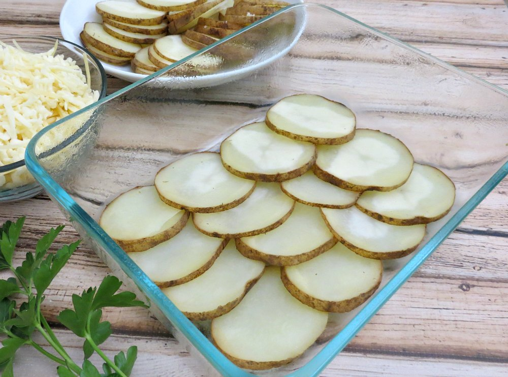Sliced Russet Potatoes