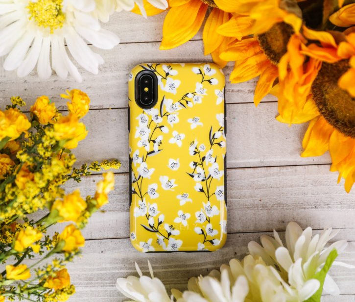 Yellow Floral Phone Case from Casely
