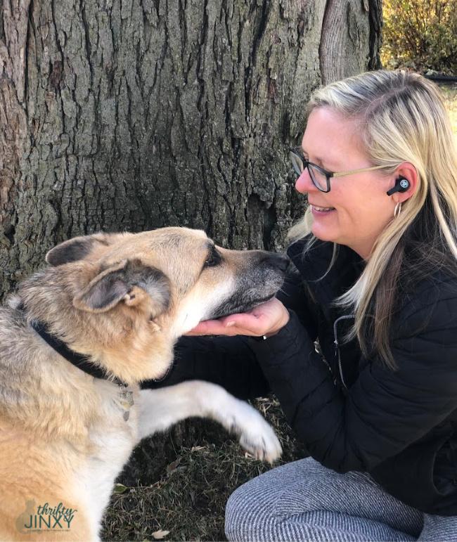 Woman and German Shepherd Dog