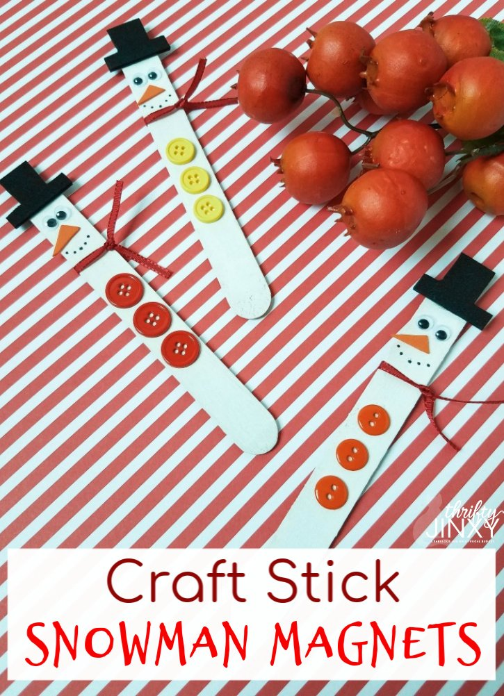 Adorable Craft Stick Snowman Magnets for the Kids to Make