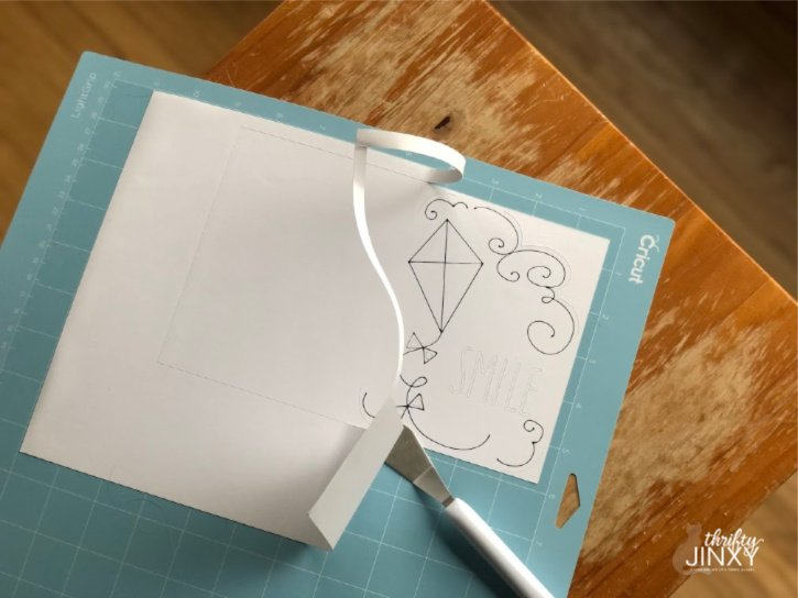 Cricut Kite Card Cutting
