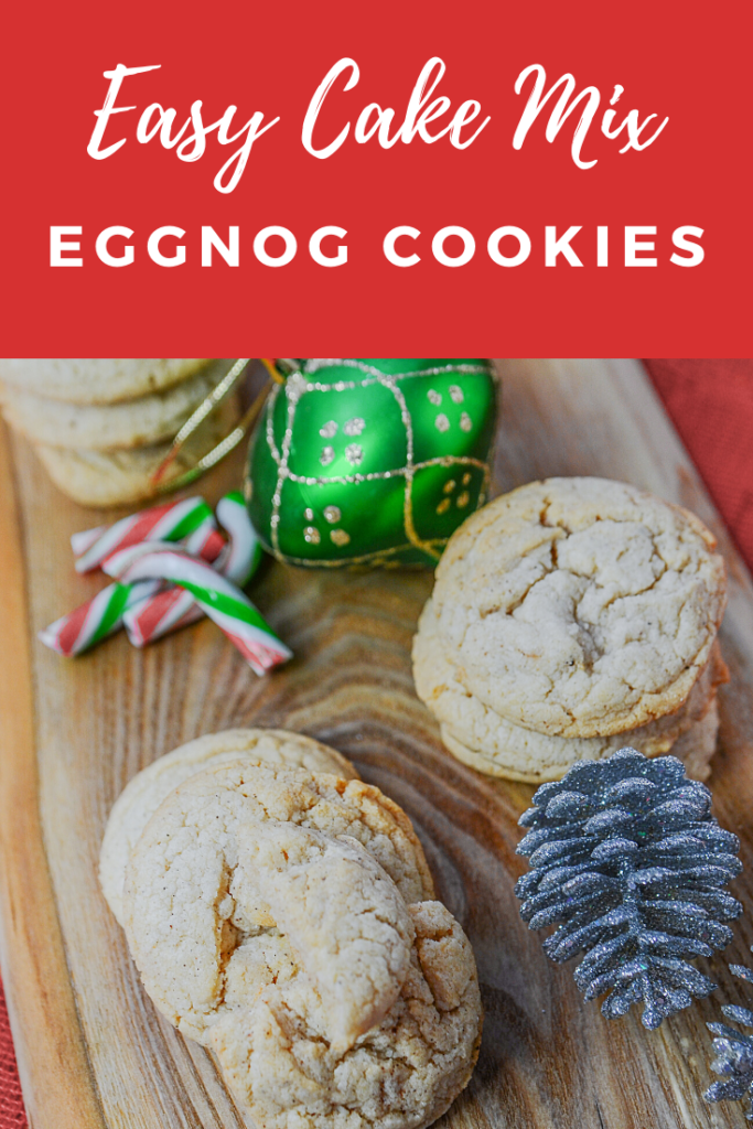 My favorite holiday recipe of my mom's was her Easy Cake Mix Eggnog Cookies Recipe. They are short on time and long on flavor!!