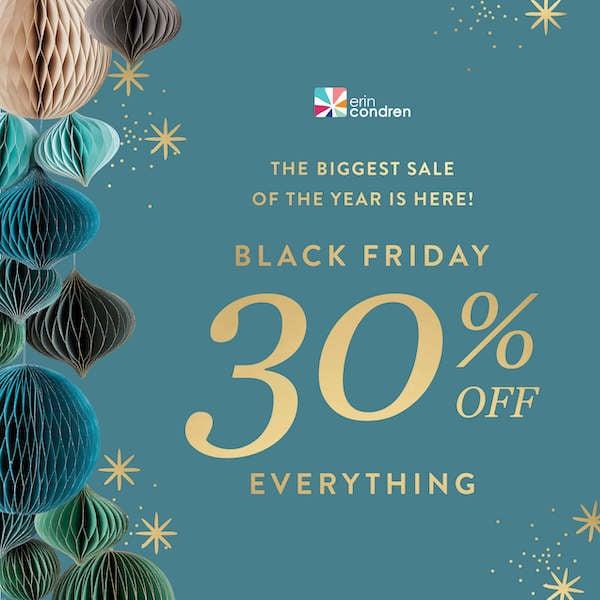 Erin Condren Black Friday 30 Percent Off Sale