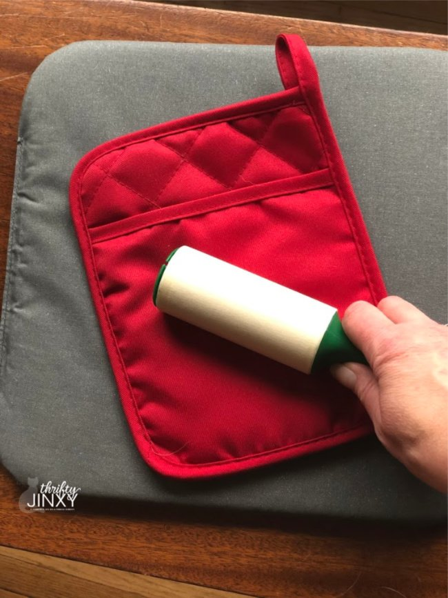 Prepare Surface for Cricut Iron On with Lint Roller