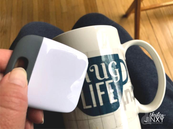 Apply Cricut Transfer Paper to Mug