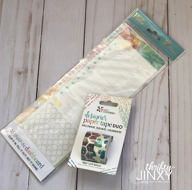 Erin Condren Dashboard Paper Tape