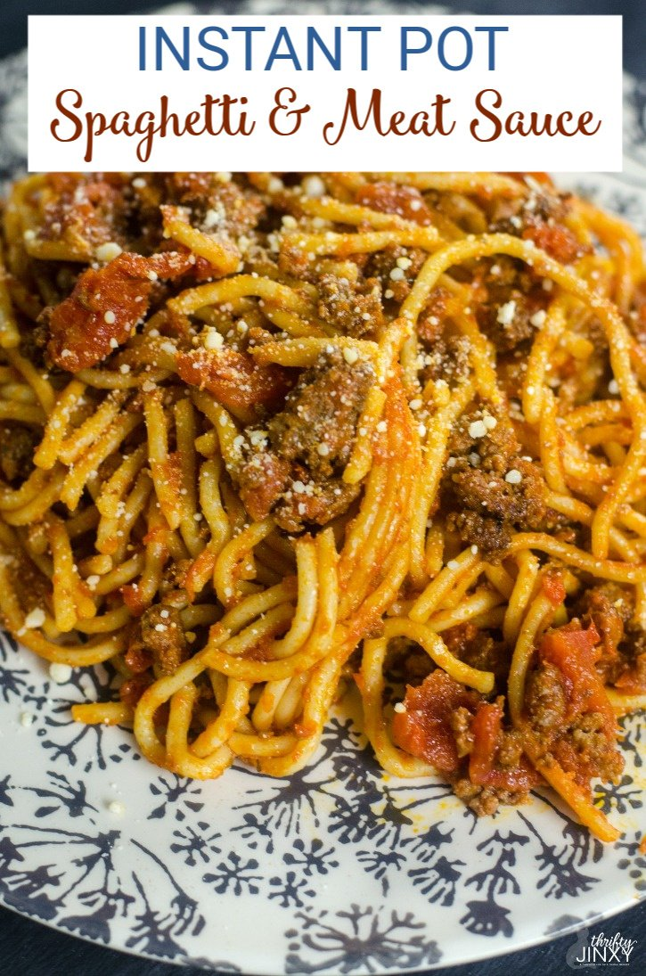 Instant Pot Spaghetti & Meat Sauce Recipe