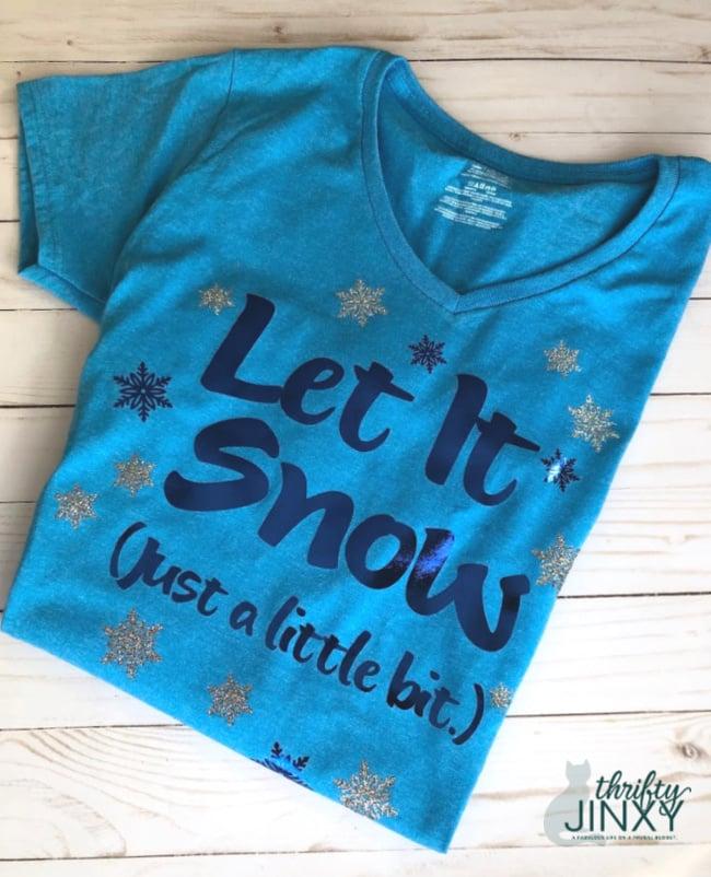 Let it Snow T-shirt Cricut