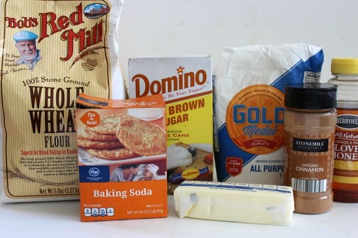 Homemade Graham Crackers ingredients