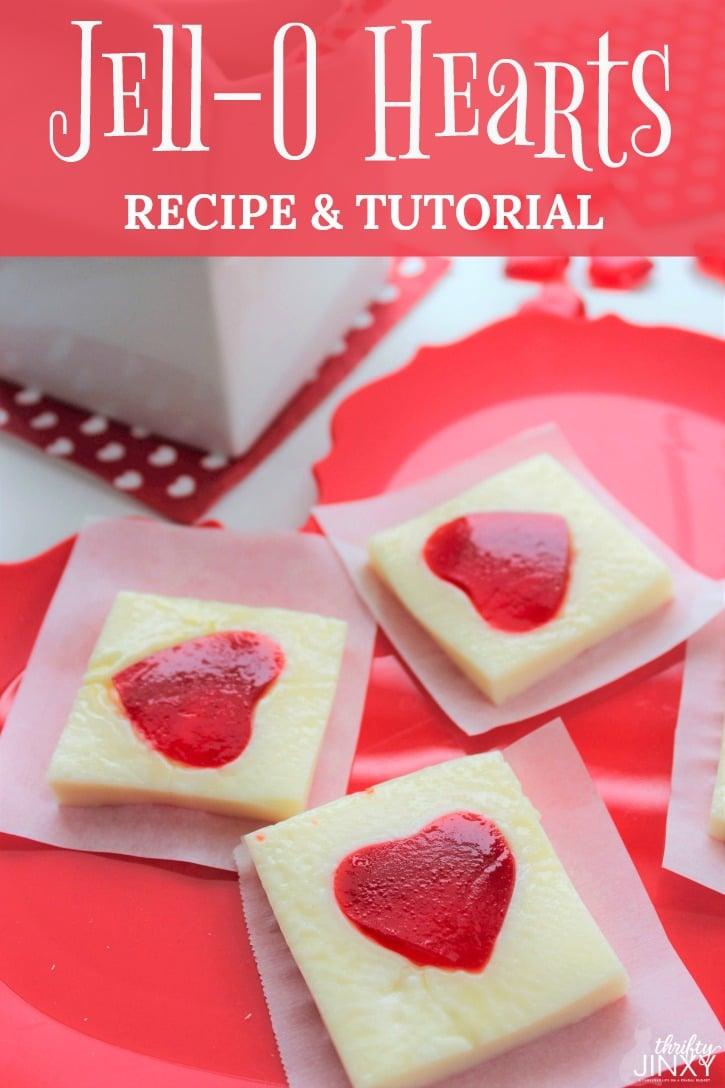Easy Valentines Day Jello Hearts Recipe