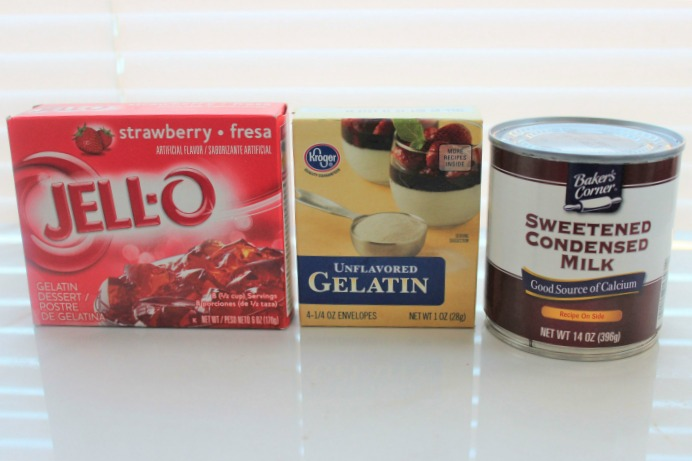 Jell-O Hearts Recipe ingredients