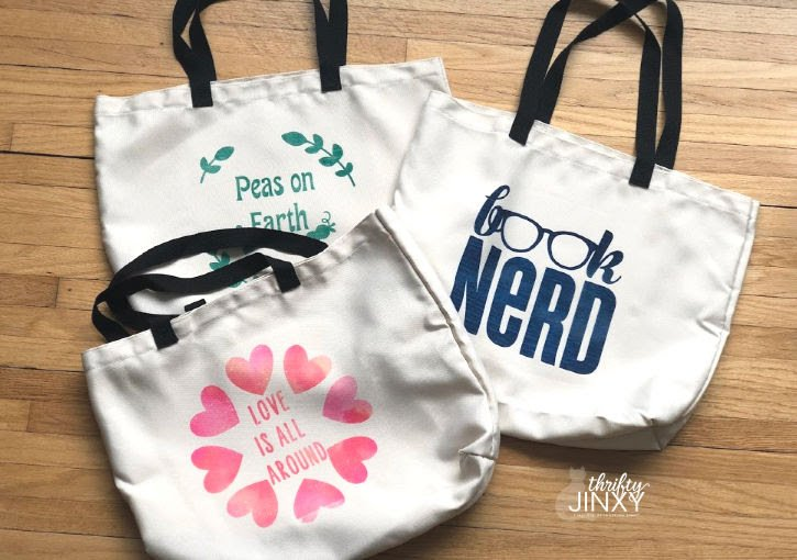 Reusable Shopping Bags with Cricut Infusible Ink