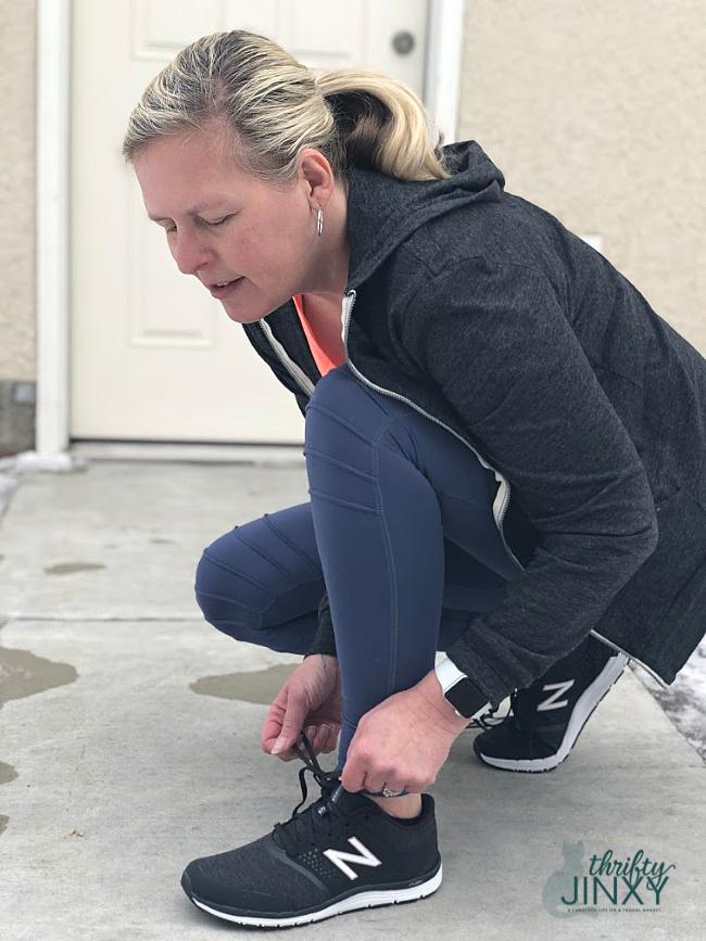 Wearing New Balance Women's 577v4 Cross Training Shoes