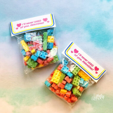 Free Printable LEGO Valentine Treat Toppers