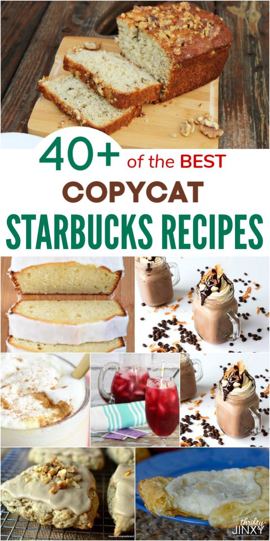40+ of the BEST Copycat Starbucks Recipes