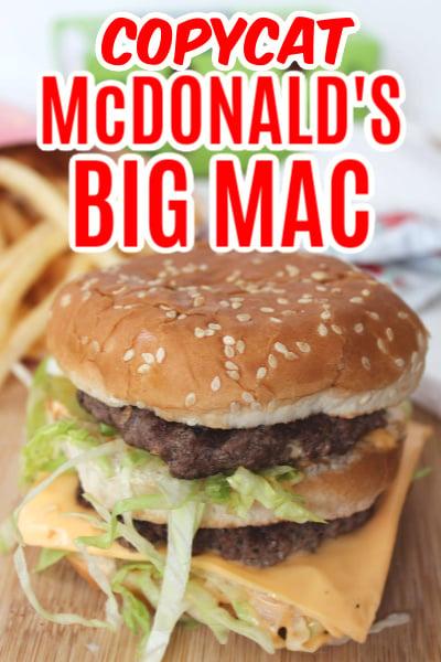 Copycat McDonalds Big Mac Recipe