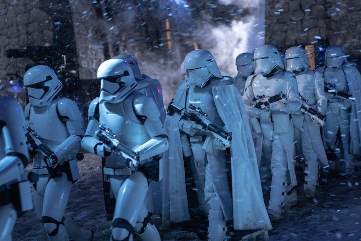 Stormtroopers in STAR WARS: THE RISE OF SKYWALKER.