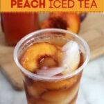 Copycat Sonic Peach Iced Tea Recipe